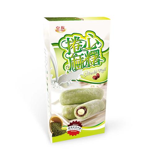 Green Tea Red Bean Milk Mochi Roll