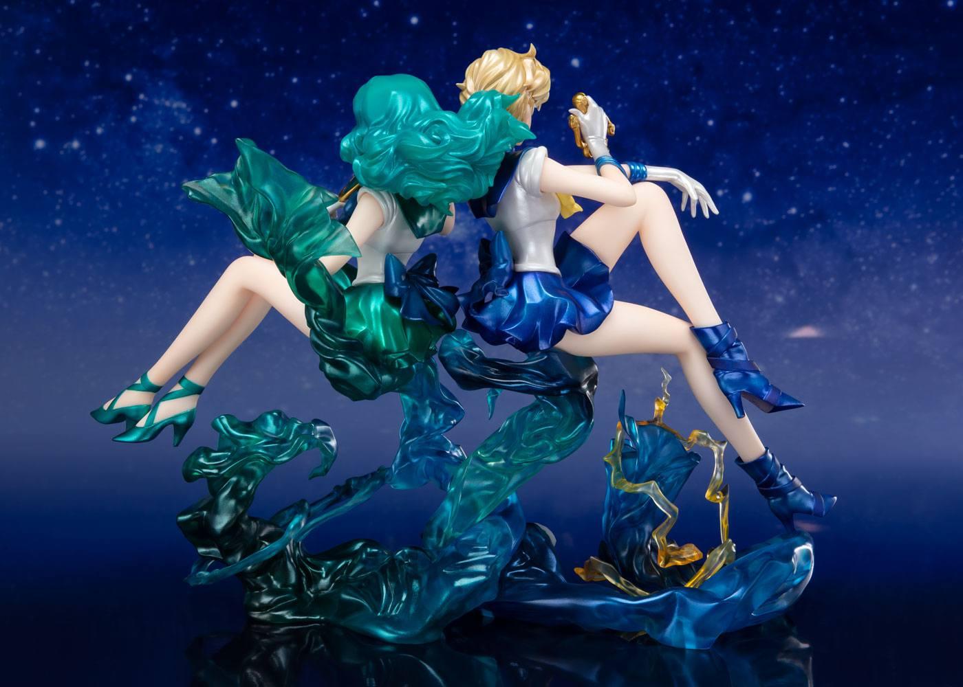Sailor Moon FiguartsZERO Chouette PVC Statue Sailor Neptun & Sailor Uranus Web Exclusive Set